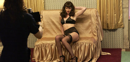 Film still for Film of the Month: The Notorious Bettie Page